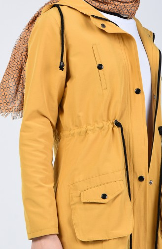 Yellow Trench Coats Models 6079-03
