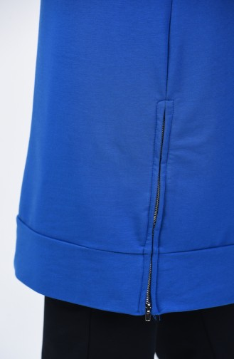 Two Thread Side Zipper Tracksuit Suit 0414-04 Saxe 0414-04