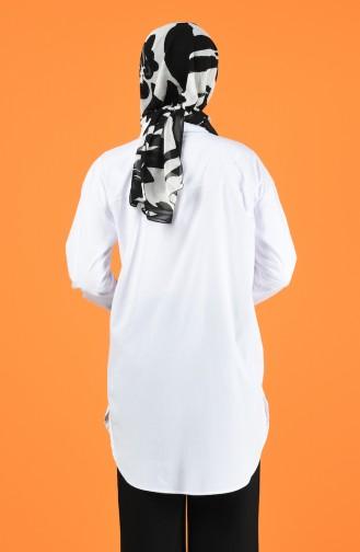 Chemise Oversize 5291-05 Blanc 5291-05