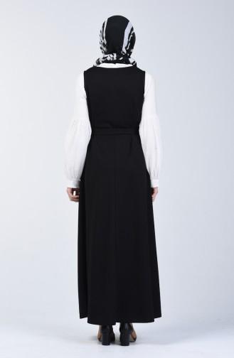Belted Gilet Dress 7130A-02 Black 7130A-02