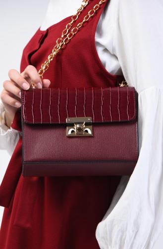 Claret red Shoulder Bag 12-03