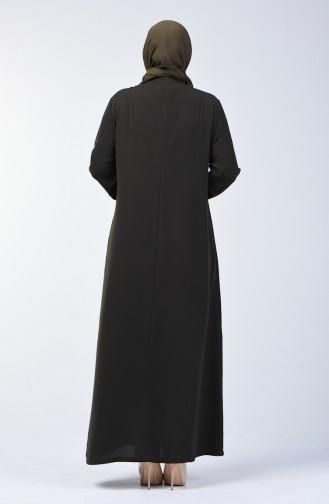 Pardessus Grande Taille 2003G-01 Khaki 2003-01