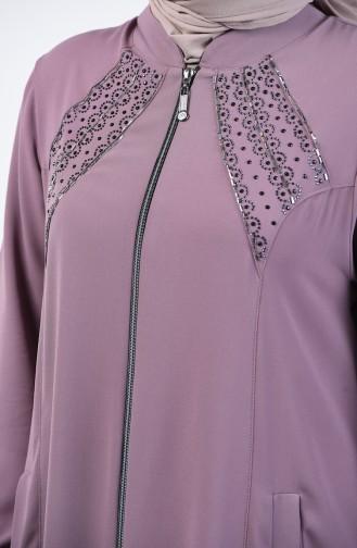Grösse Grosse Hijab Mantel 2015-05 Puder Rosa 2015-05