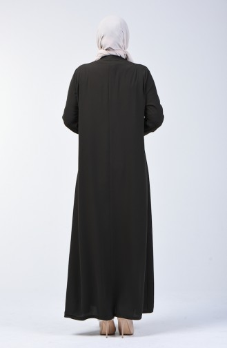 Grösse Grosse Hijab Mantel 2015-06 Khaki 2015-06