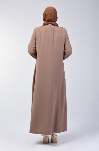 Plus Size Sequined Topcoat 0370-02 Milky coffee 0370-02
