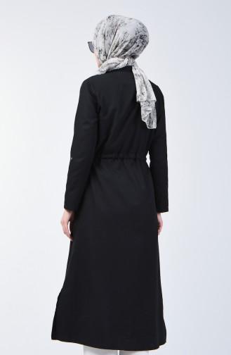 Uzun Yırtmaçlı Tunik 1309-01 Siyah