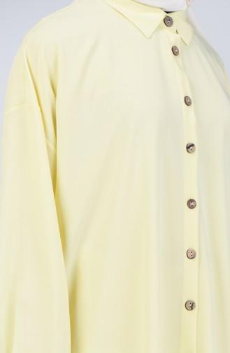 Buttoned Shirt Tunic 1315-03 Yellow 1315-03