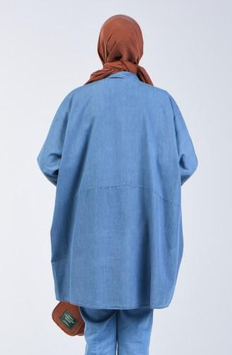 Yarasa Kol Kot Tunik 4043-02 Kot Mavi