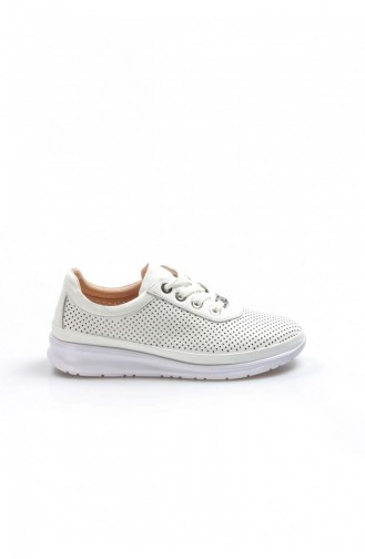 Fast Step Günlük Ayakkabı Hakiki Deri 001 Beyaz Casual Ayakkabı 757Za2037
