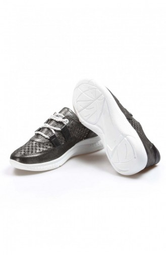 Fast Step Günlük Ayakkabı Hakiki Deri Çelik Saten Casual Ayakkabı 757Zad10 757ZAD10-16781492