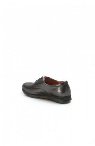 Fast Step Günlük Ayakkabı Hakiki Deri Siyah Saten Casual Ayakkabı 863Za20551