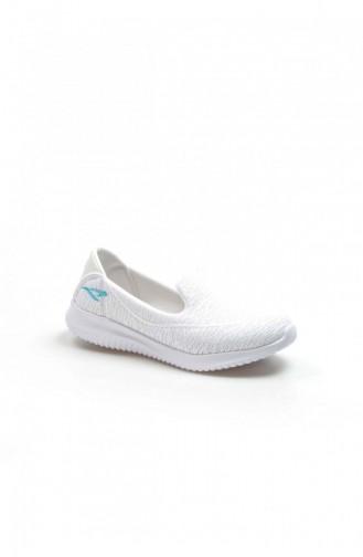 Fast Step Spor Ayakkabı Beyaz Logo Mavi Yürüyüş Ayakkabı 629Za254202 629ZA254-202-16782420