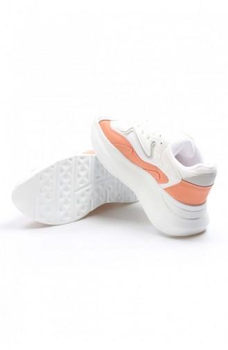 Fast Step Spor Ayakkabı Beyaz Oranj Sneaker Ayakkabı 629Za085208 629ZA085-208-16782114