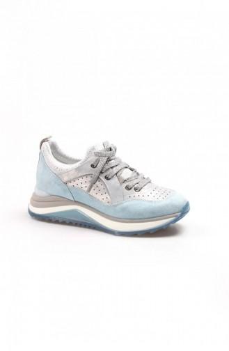 Fast Step Spor Ayakkabı Hakiki Deri R80R599R2001 Mavi Mavi Nubuk Sneaker Ayakkabı 009Za653
