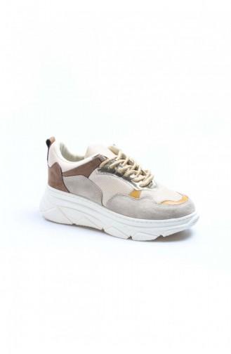 Fast Step Spor Ayakkabı Kum Nubuk Bej Sneaker Ayakkabı 928Za103 928ZA103-16782406