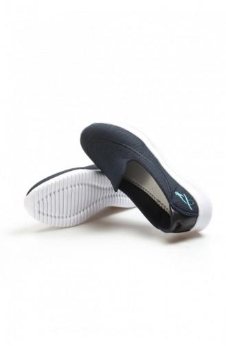 Fast Step Spor Ayakkabı Lacivert Logo Mavi Yürüyüş Ayakkabı 629Za254202