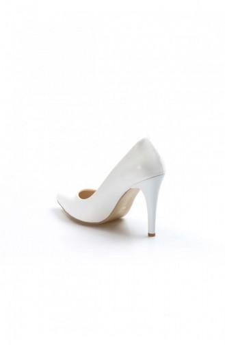 Fast Step Topuklu Ayakkabı Beyaz İnce Topuk Ayakkabı 917Za7000