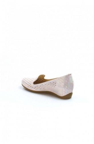 Fast Step Topuklu Ayakkabı Hakiki Deri 669 Pudra Dolgu Topuk Ayakkabı 407Za461 407ZA461-16782405