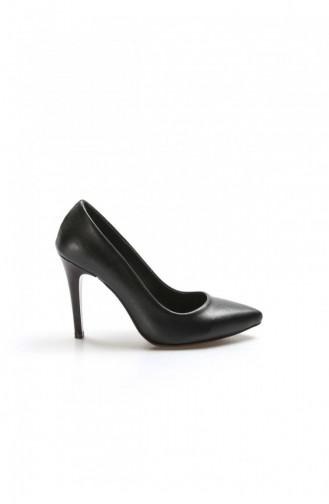 Fast Step Topuklu Ayakkabı Siyah İnce Topuk Ayakkabı 917Za7000