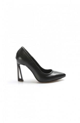 Fast Step Topuklu Ayakkabı Siyah İnce Topuk Ayakkabı 917Za7002 917ZA7002-16777229