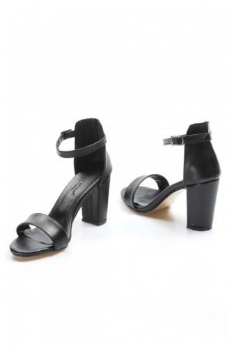 Fast Step Topuklu Ayakkabı Siyah Kalın Topuklu Ayakkabı 917Za601