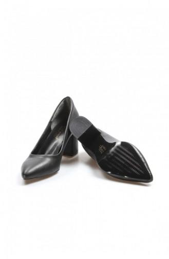 Fast Step Topuklu Ayakkabı Siyah Kalın Topuklu Ayakkabı 917Za800K