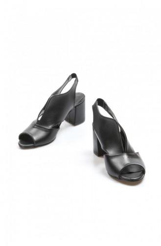 Fast Step Topuklu Ayakkabı Siyah Kısa Topuklu Ayakkabı 917Za703 917ZA703-16777229