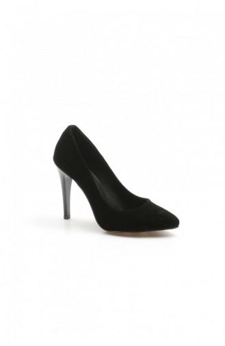 Fast Step Topuklu Ayakkabı Siyah Süet İnce Topuk Ayakkabı 917Za7000 917ZA7000-16777285