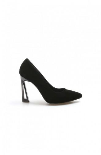 Fast Step Topuklu Ayakkabı Siyah Süet İnce Topuk Ayakkabı 917Za7002 917ZA7002-16777285