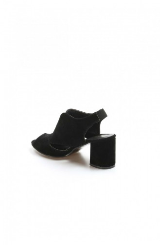 Fast Step Topuklu Ayakkabı Siyah Süet Kısa Topuklu Ayakkabı 917Za703 917ZA703-16777285