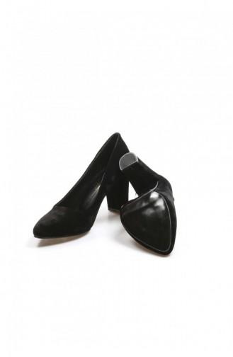 Fast Step Topuklu Ayakkabı Siyah Süet Kısa Topuklu Ayakkabı 917Za850 917ZA850-16777285