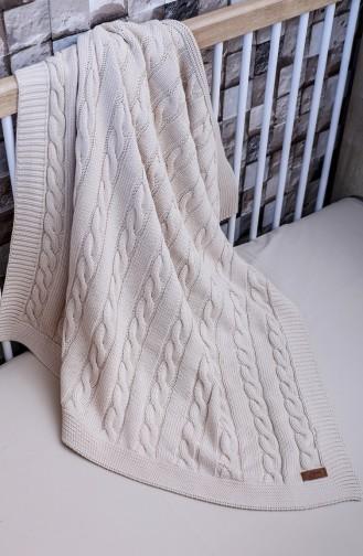 Poyraz Baby Blanket 90x90 Poyraz00001-1 Beige 00001-1