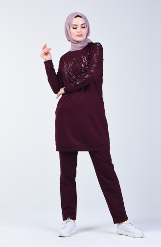 Printed Sportswear Suit 9192-04 Damson 9192-04