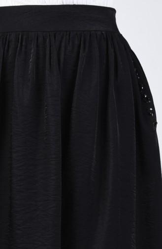 Taş Detaylı Yazlık Etek 7Y2720900-01 Siyah