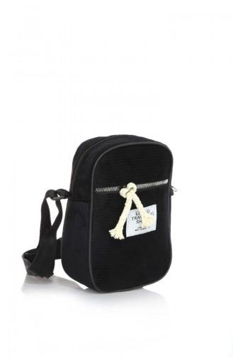 Stilgo Women´s Shoulder Bag DM07Z-01 Black Velvet 07Z-01