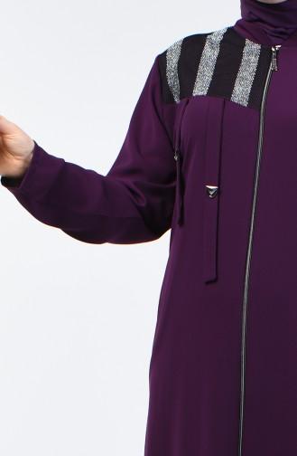 معطف فوقي أرجواني 2003G-08