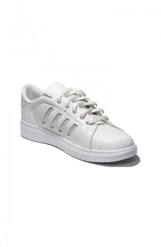 Bayan Spor Ayakkabı 30050-10 Beyaz Hologram 30050-10