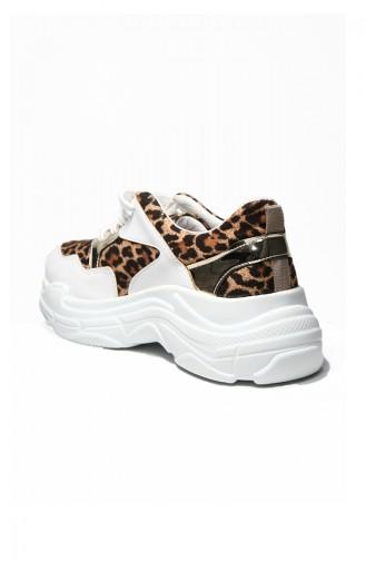 Bayan Spor Ayakkabı 5000-03 Leopar