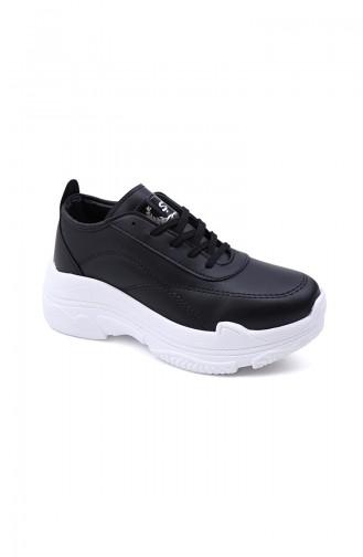 Bayan Spor Ayakkabı 5008-01 Siyah Beyaz 5008-01