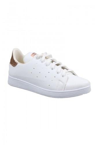 Women´s Ladies Sneakers 200-50 White Gold 200