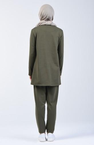 Tunika Hose Zweier Anzug 2005-01 Khaki 2005-01