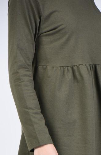 Ensemble Deux Pieces Tunique Pantalon à Rayures 2007-01 Khaki 2007-01