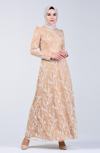 Puder Hijab-Abendkleider 7265-01