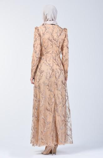 Nerz Hijab-Abendkleider 7265-03
