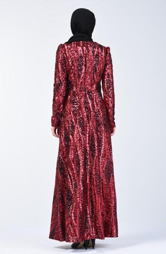 Rot Hijab-Abendkleider 7266-01