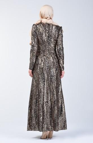 Khaki Hijab-Abendkleider 7266-04