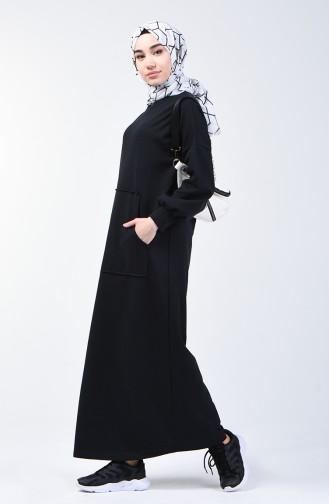 Robe Sport à Poche 1800-01 Noir 1800-01