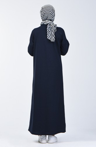 فستان رياضي بجيوب كحلي 1800-04