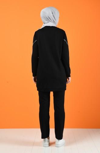 بدلة رياضية بجيوب أسود 9178-01