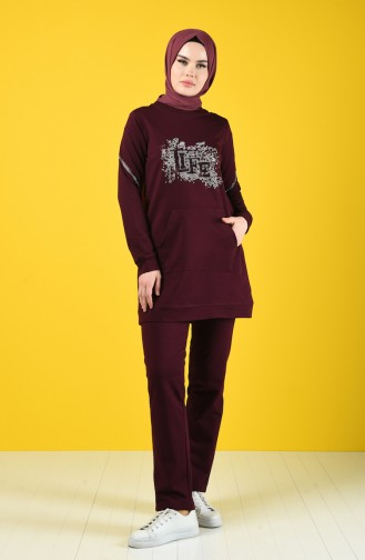 Sportswear Suit with Pocket 9178-06 Damson 9178-06